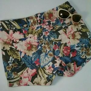 J.Crew Floral side zip shorts, SZ 4